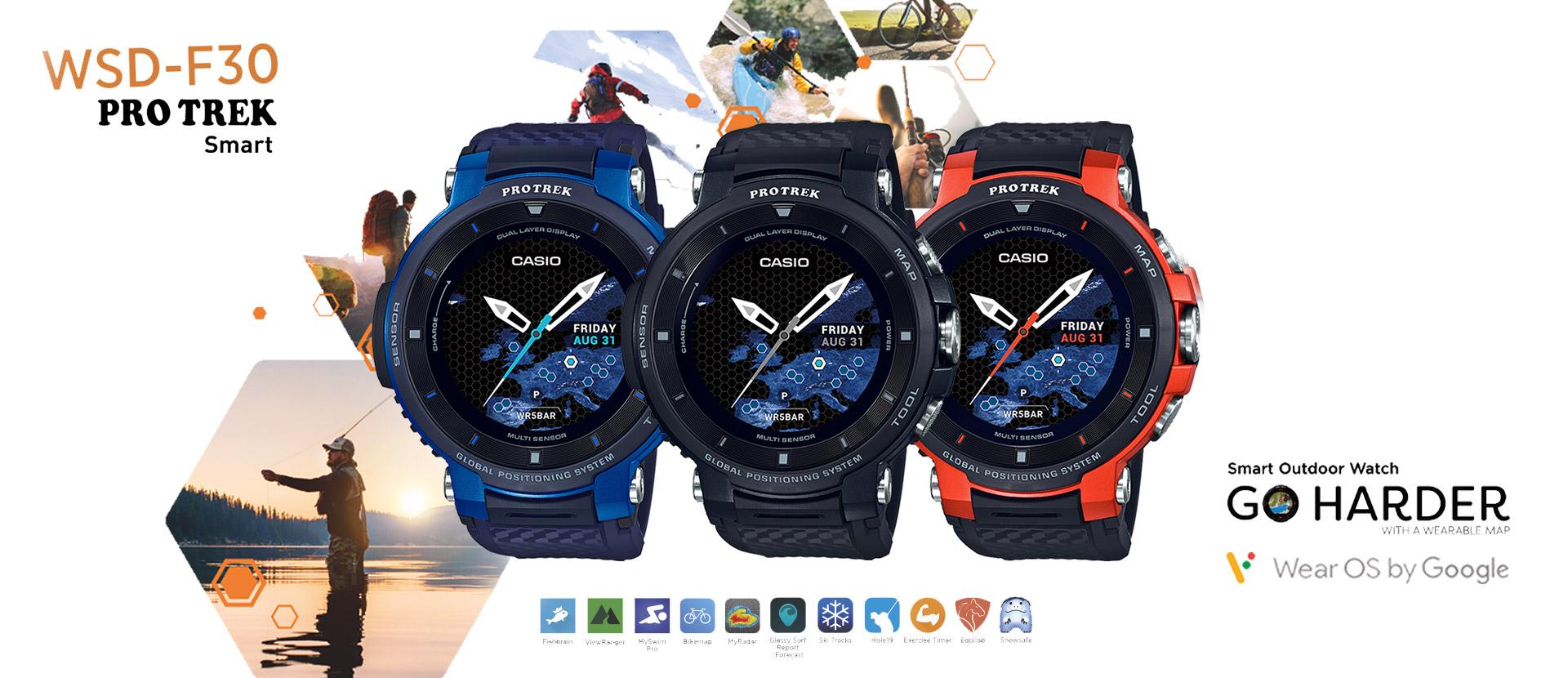Relógios Casio Pro Trek Smart WSD-F30