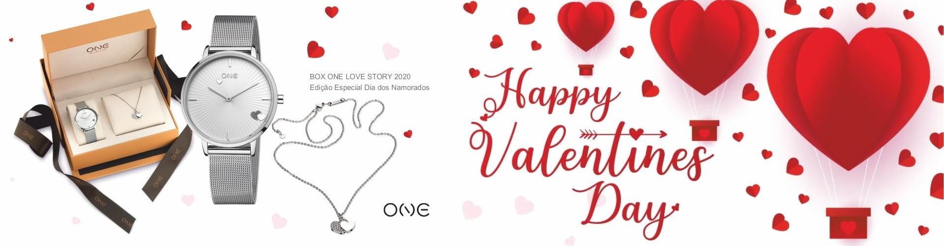 RELÓGIO ONE LOVE STORY BOX 2020 - EDIÇÃO ESPECIAL DIA DOS NAMORADOS